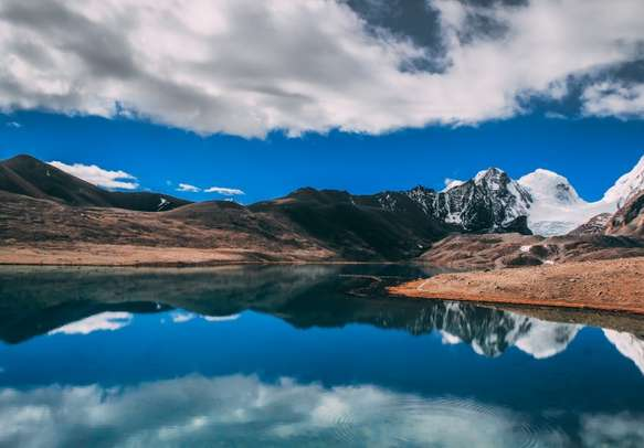 Gurudongmar Lake , one of the highest lakes in the world and in India