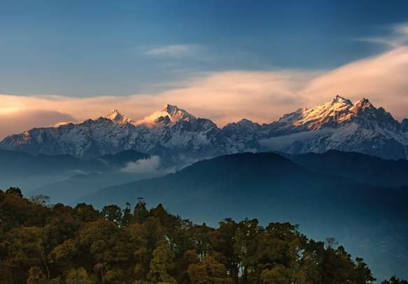 Kangchenjunga close up view from Pelling in Sikkim, India