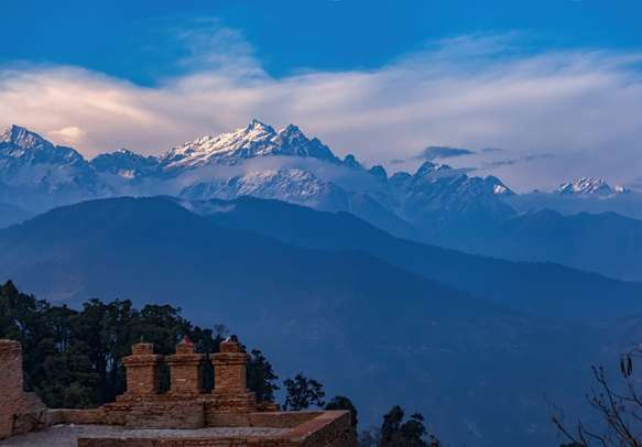 Rabdentse Ruins near Pelling, Sikkim state in India