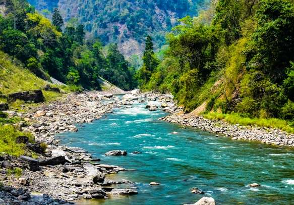River Rangeet in West Sikkim India
