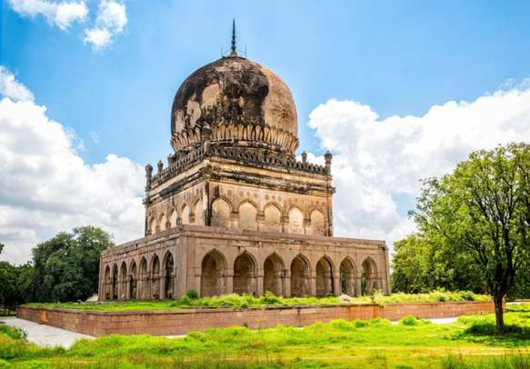 The ancient tomb of Qutb Shahi in Hyderabad