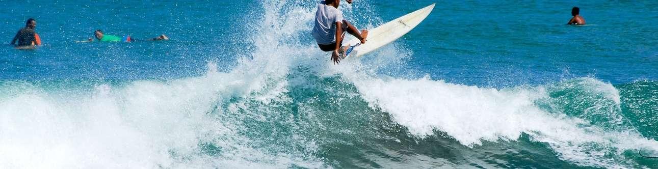 Enjoy water activities in Legian Beach in Bali