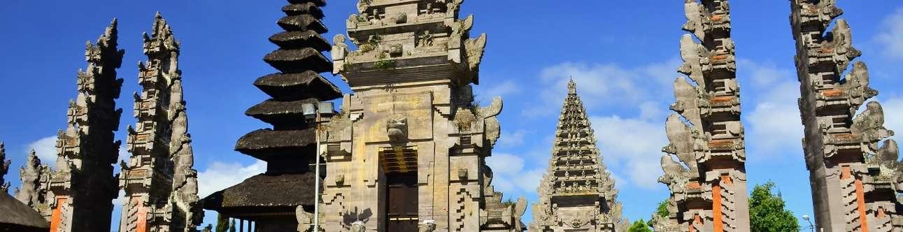 Famous landmark Pura Ulun Danu Batur in Bali