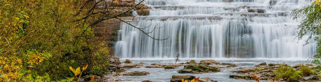 Enjoy The Glen Falls Trail offers a short, scenic out and back with a waterfall