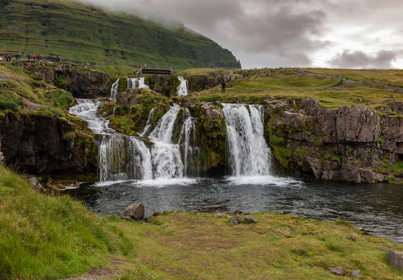 Kikrjufellfoss waterfall on Iceland