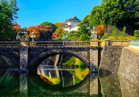 View of the Imperial Palace in Tokyo, Japan