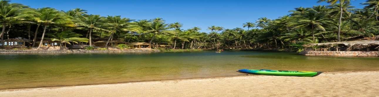 Visit the amazing Cola Beach in Goa