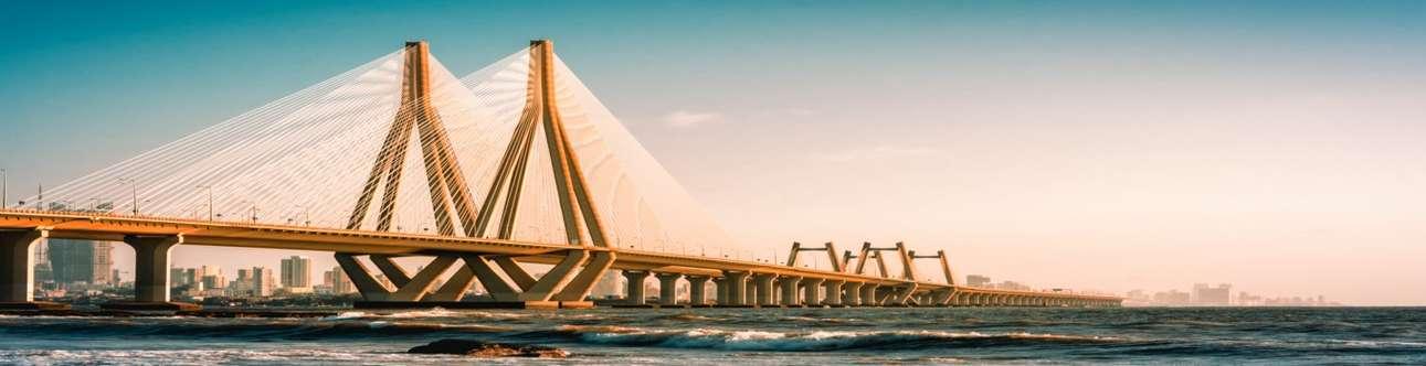 Visit the Bandra Worli Sea Link in Mumbai