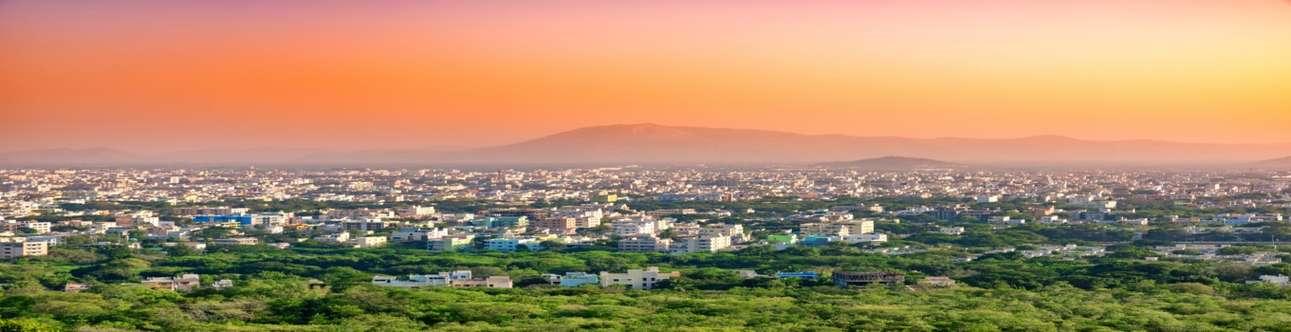 Aerial view of Tirupati in Andhra Pradesh