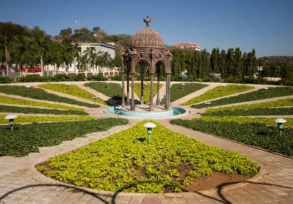 Green beautiful park at Ramoji Film city near Hyderabad