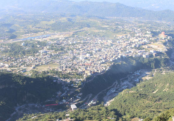 early morning view from Vaishno Devi in Jammu and Kashmir