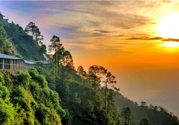 sunset at vaishno devi, Katra Jammu