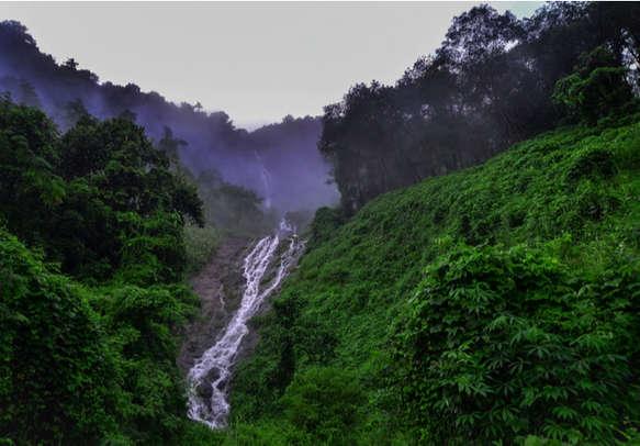 Beautiful waterfalls in vagamon route