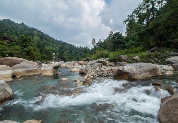 Beautiful serene landscape of Rocky Island of West Bengal
