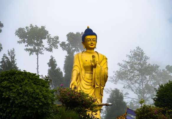 Visit Buddha structure at Lava, West Bengal