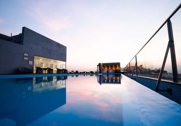 On-site outdoor swimming pool for a splash of rejuvenation