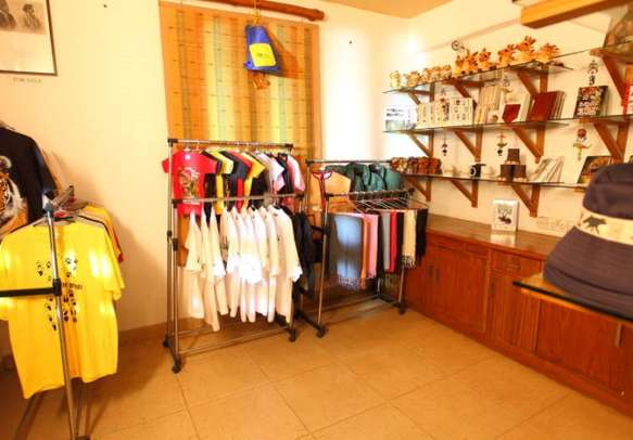 Go shopping for souvenirs at the on-site gift shop