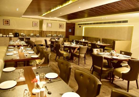 Savor multi-cuisine dishes in an on-site restaurant