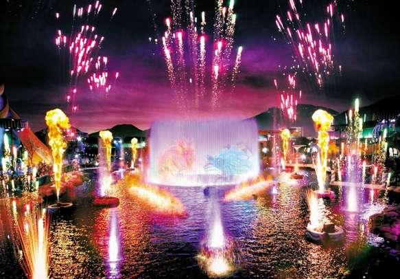 Enjoy 360 degree multi-sensory show, Symbio during the Ocean Park tour