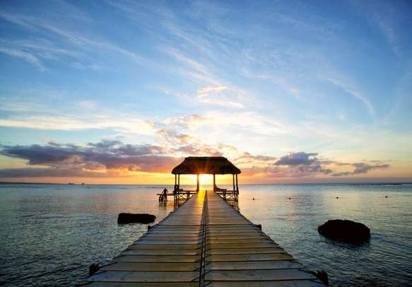 Beautiful landscape in Mauritius