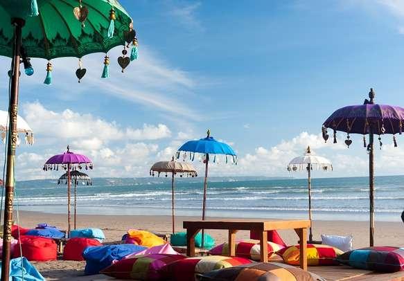 Colorful beach at Kuta in Bali