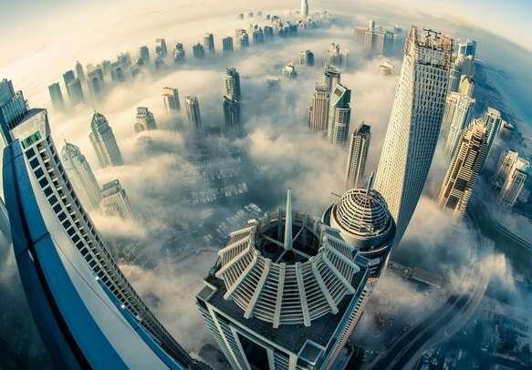 A mesmerising bird-eye view of Dubai city