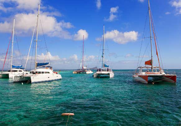 Catamarans in Mauritius