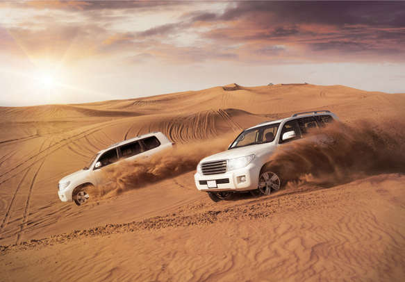 Engage in a daring session of Dune Bashing on Arabian sands