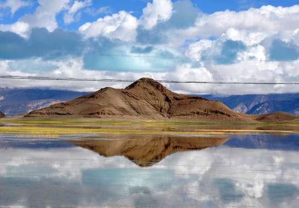 The Pangong Lake in the Himalayas of Ladakh