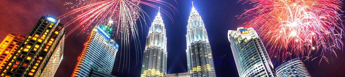 The beautiful skyline of Kuala Lumpur will leave you enchanted