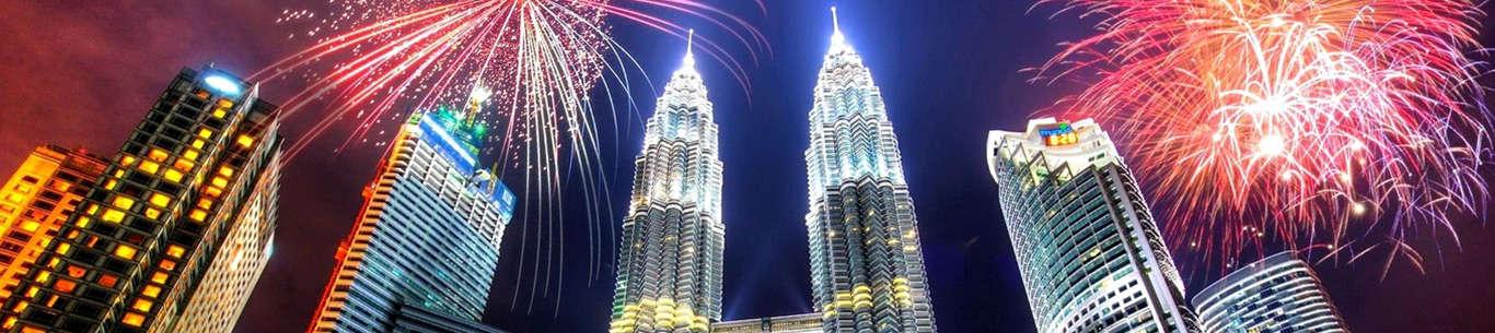 The beautiful skyline of Kuala Lumpur will leave you enchanted