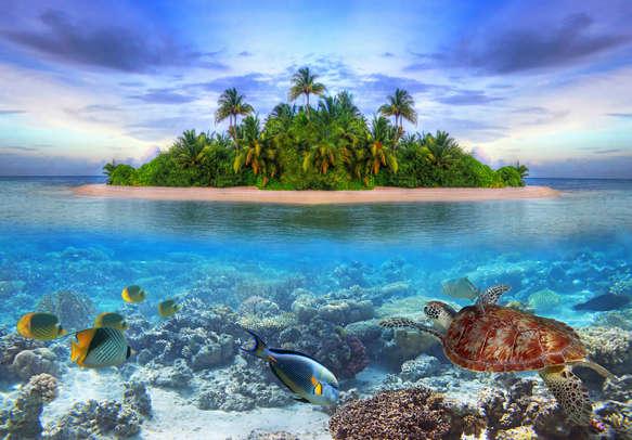 Natural beauty of Maldives