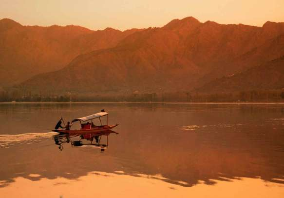 Admire the nature at Dal lake