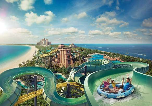 Have fun with Aquaventure Waterpark's numerous water rides