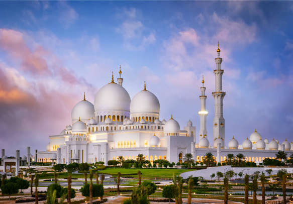 Seek blessings at the Sheik Zayed Mosque - a fine example of rich architecture