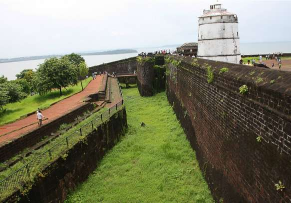 Visit the ancient Aguada Fort on your Goa tour.