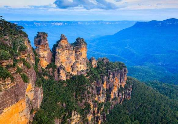 Enjoy the grand views of the Three Sisters on your Australia vacation.