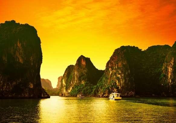Enjoy scenic pleasures at Halong Bay