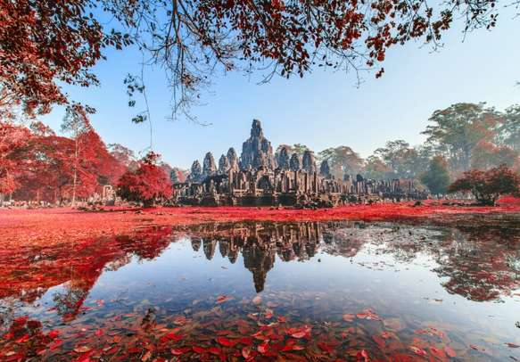Witness the beauty of the magnificent Bayon Castle