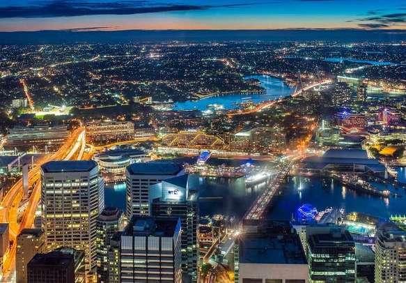 Enjoy the views of the Sydney skyline