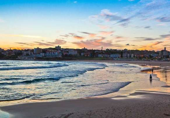 Spend some time at Bondi beach on your Australia vacation.