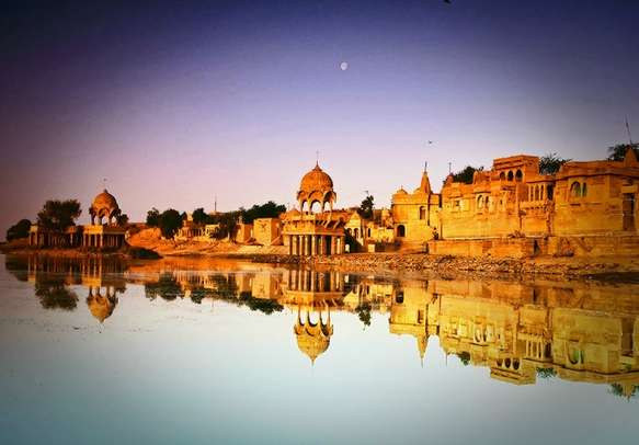 Early morning view in the beautiful city of Jaisalmer