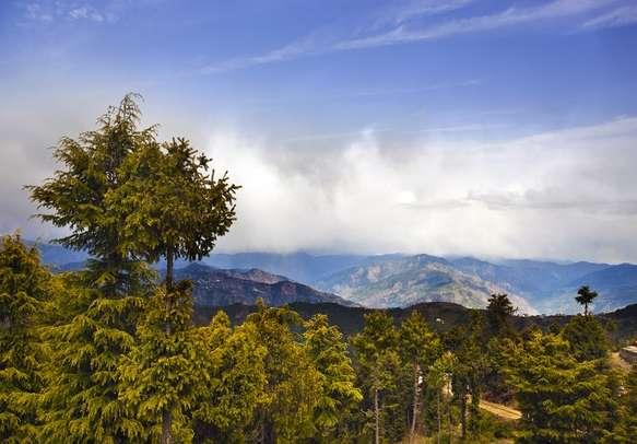 Panoramic shot of Shimla.