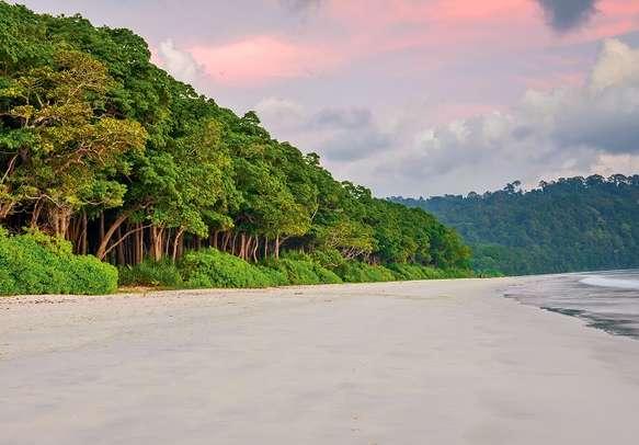 Sunset at Radhanagar Beach in Andaman.