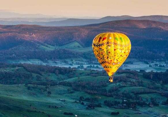 Enjoy an exciting hot air balloon ride in Australia.