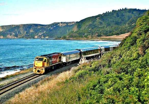 Go on a scenic TranzAlpine ride on this New Zealand vacation