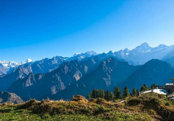 The serene view of Uttarakhand hills