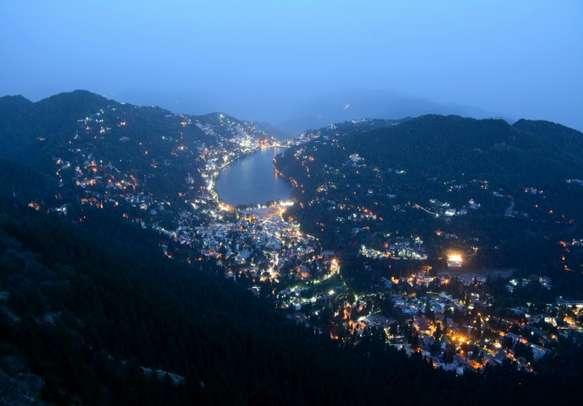 Enchanting night view of Nanital