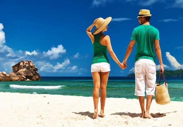 Enjoy romantic walk with your partner on the beach.