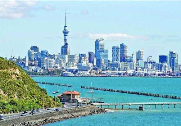 The gorgeous view of Auckland skyline